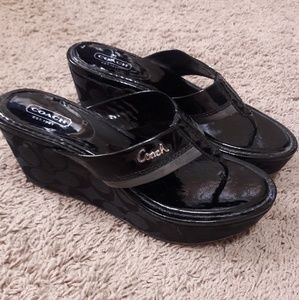 Coach sandal wedges